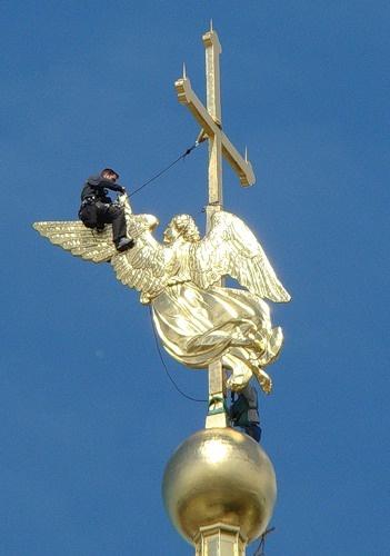 Ангел, Петропавловская крепость, шпиль, золочение