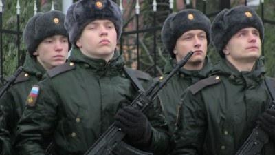 Присяга у памятника погибшим при штурме Кёнигсберга гвардейцам . Калининград, присяга 7 декабря 2019 г.